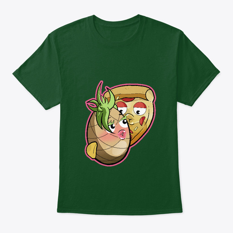 Pineapple On Pizza Deep Forest T-Shirt Front