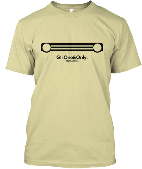 Gti One&Only. Vagindustries Sand T-Shirt Front