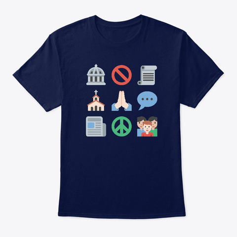 First Emojiment Navy T-Shirt Front