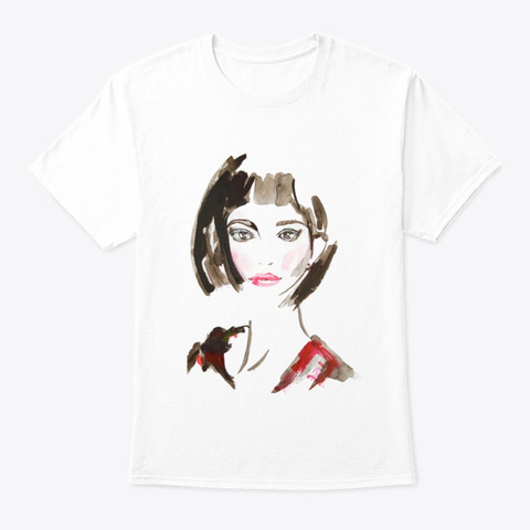 Girly Chic White T-Shirt Front
