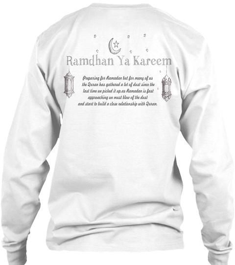 Moslem T Shirt  White T-Shirt Back