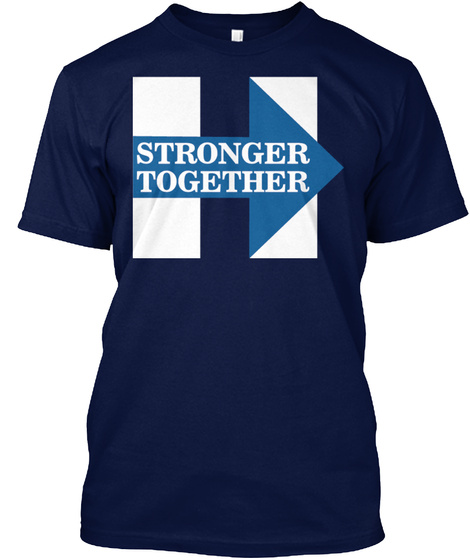 Stronger Together Navy T-Shirt Front