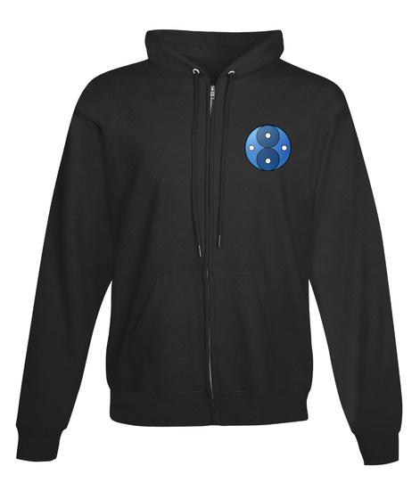 (Eu) Space Laser Zip Up Jet Black T-Shirt Front