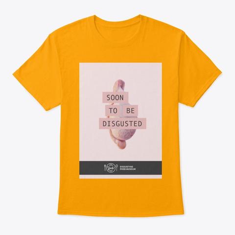 Testicular Design Gold T-Shirt Front