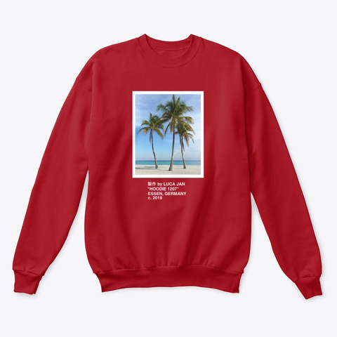 Palm Trees 制作 By Luca Jan Deep Red  T-Shirt Front