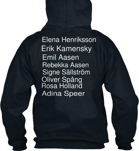 Elena Henriksson Erik Kamensky Emil Aasen Rebekka Aasen Signe Sällström Oliver Spång Rosa Holland Adina Speer French Navy T-Shirt Back