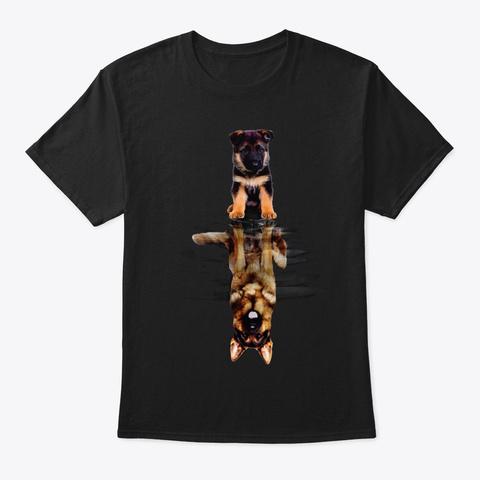 German Shepherd Be Yourself Black T-Shirt Front