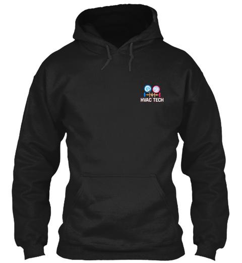 Hvac Tech Black T-Shirt Front