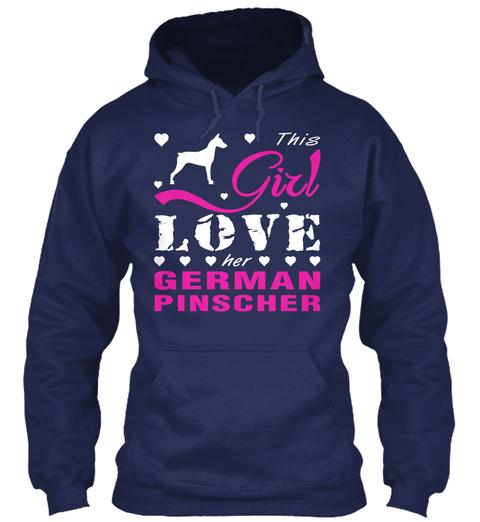 German Pinscher Gift Shirt Navy T-Shirt Front