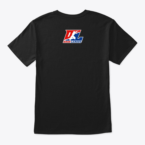 Dltv   Dash League Logo Black T-Shirt Back