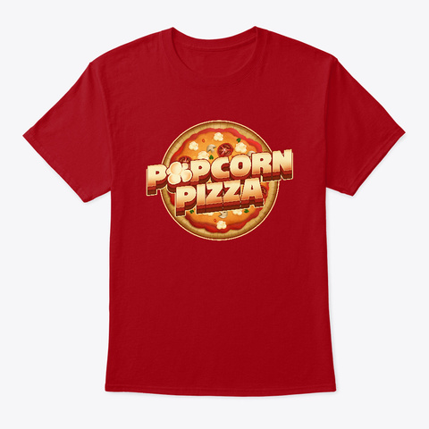 Popcorn Pizza T Shirt Deep Red T-Shirt Front