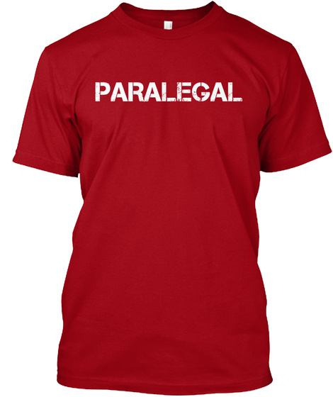 Paralegal Deep Red T-Shirt Front