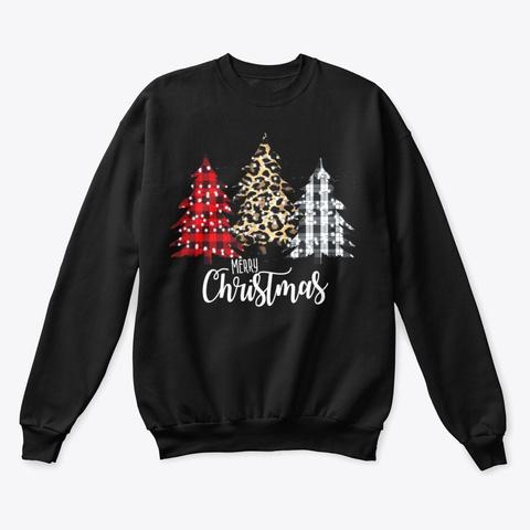 Christmas Tree T Shirt Black T-Shirt Front