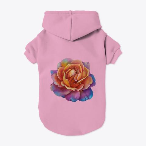 Colorful Coral Rose  Light Pink T-Shirt Back