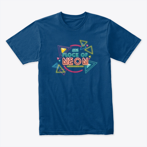 Flock Of Neon  Cool Blue T-Shirt Front