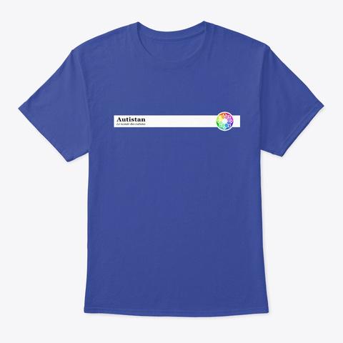 T Shirt Minimaliste De L'autistan [Fr] Deep Royal T-Shirt Front