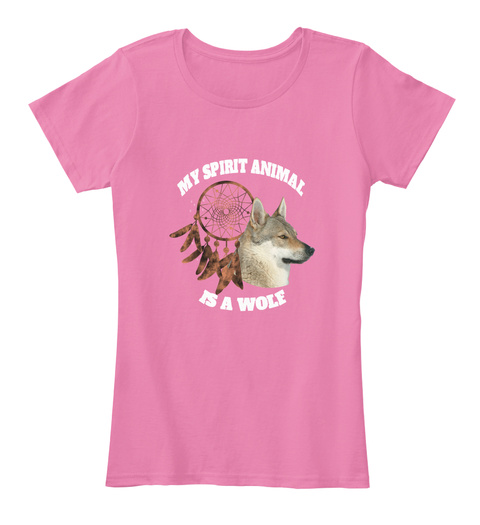 Wolf Spirit Dire Wolves Galentine's Day True Pink T-Shirt Front