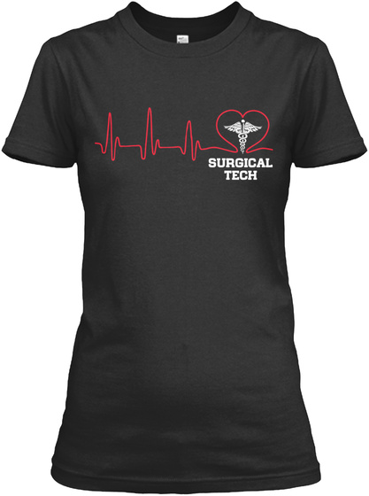 Surgical Tech Black T-Shirt Front