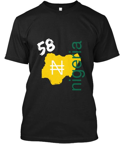 58 Nigeria Black T-Shirt Front