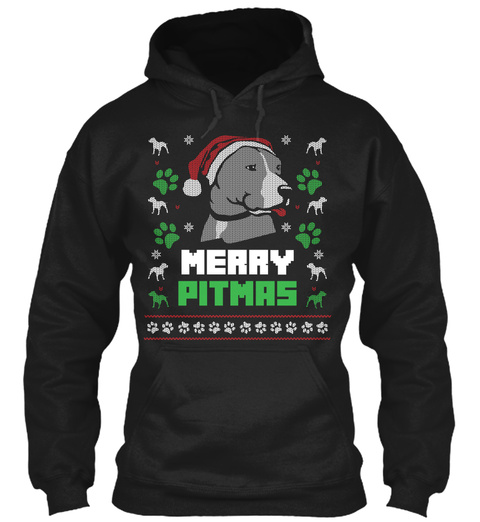 Merry Pitmas 2018  Special Holiday Offer Black T-Shirt Front