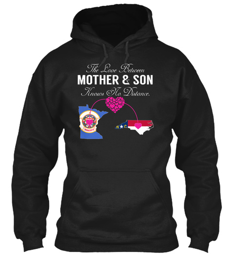 Mother Son   Minnesota North Carolina Black T-Shirt Front