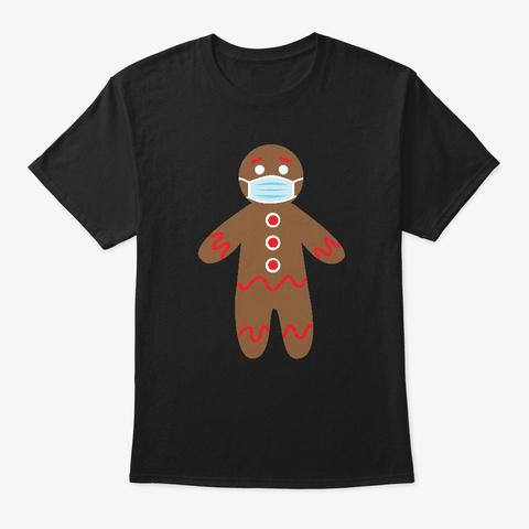 Gingerbread Man 2020 Black T-Shirt Front