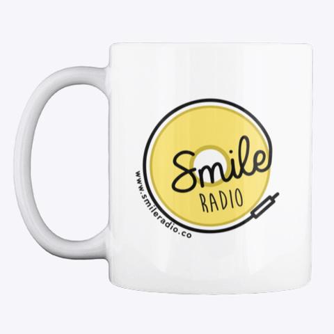 Smile Radio Merch White T-Shirt Front