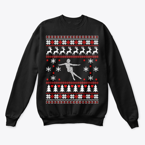 Figure Skating Ugly Christmas Sweater Unisex Tshirt