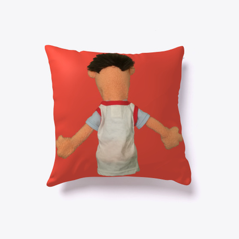 Timmy Uppet Pillow Red T-Shirt Back