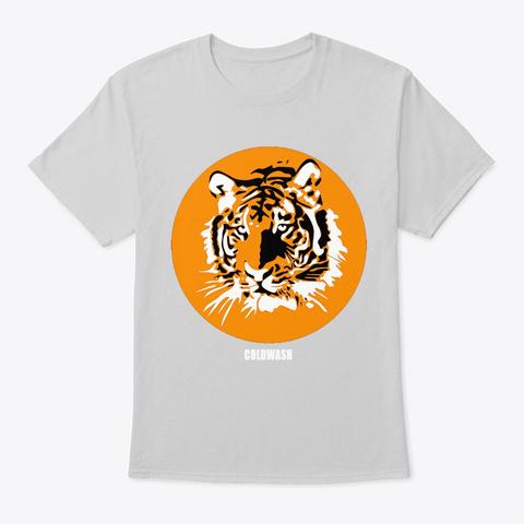 Retro Tiger Light Steel T-Shirt Front