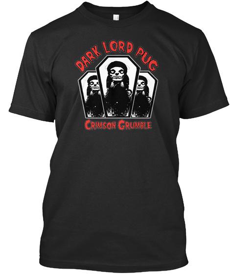 Pugfits Crimson Grumble Black T-Shirt Front