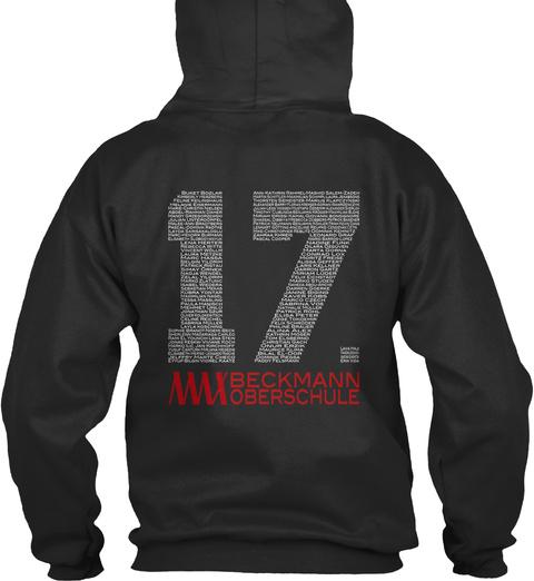 17 Beckmann Oberschule Jet Black Sweatshirt Back