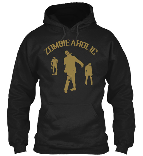 Zombie Aholic Black T-Shirt Front