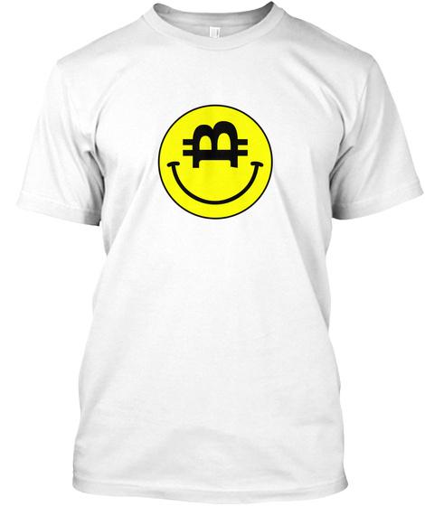 Bitwear   Smiley Btc T Shirt White T-Shirt Front