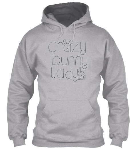 Crazy Bunny Lady Sport Grey Sweatshirt Front