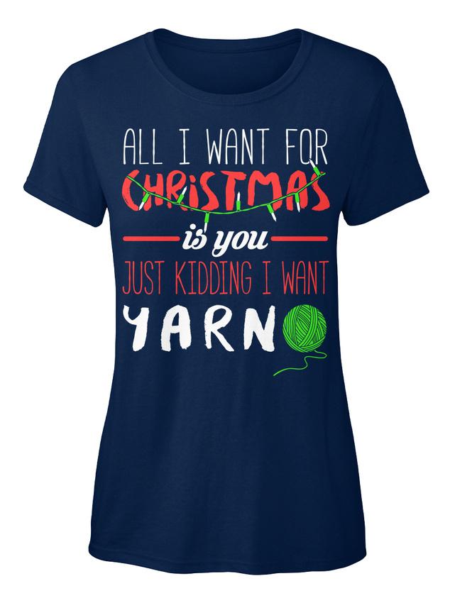 Coole-Haekel-All-I-Want-fuer-Weihnachten-ist-sie-nur-Standard-Damen-T-Shirt Indexbild 3