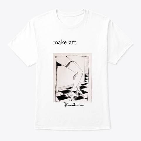 Make Art White Camiseta Front