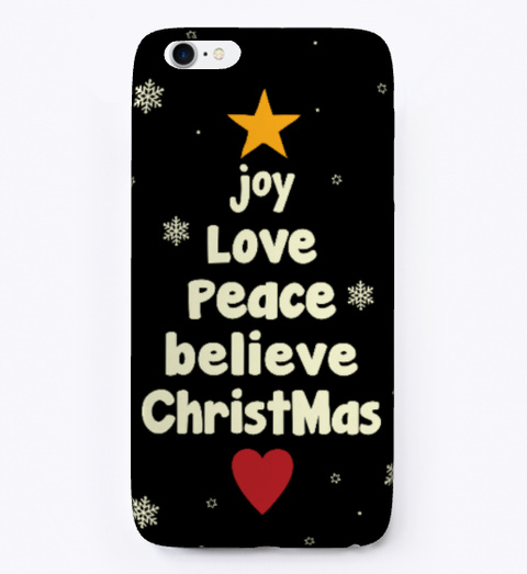Christmas Phone Case ! Holiday Phone Case Black T-Shirt Front