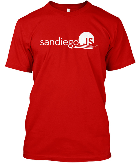 Sandiego Js Classic Red T-Shirt Front