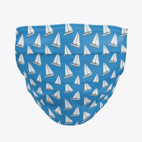 S.V. Temptress Sailboat Face Mask Denim Blue T-Shirt Front