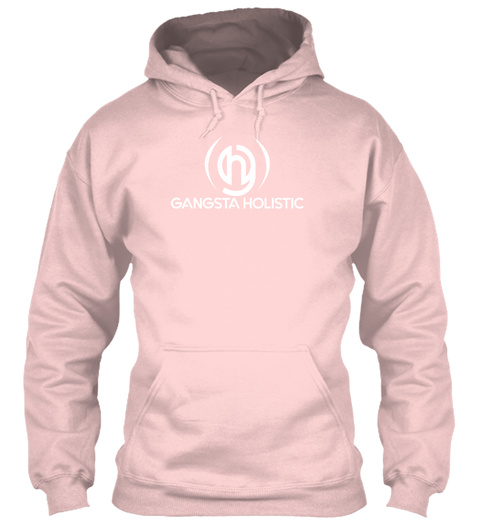 Gangsta Holistic Pink Hoodie Light Pink T-Shirt Front