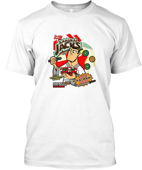 Samurai Jacks White T-Shirt Front