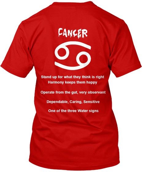 Cancer T Shirts Classic Red T-Shirt Back
