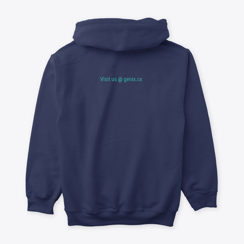 Genix Hoodie Navy T-Shirt Back