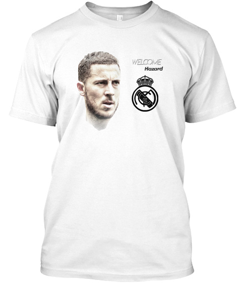 Hazard Welcome To Madrid White T-Shirt Front