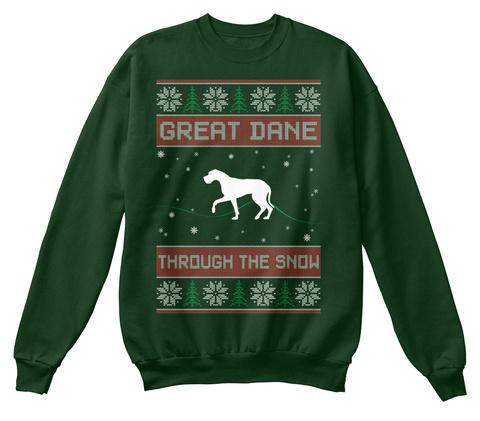 Great Dane Deep Forest  T-Shirt Front