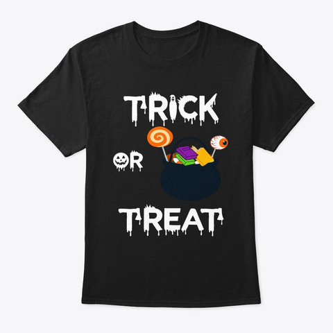 Bookish Halloween Style For Book Nerds Black T-Shirt Front