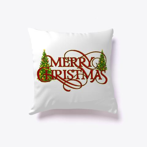 Merry Christmas Pillo1 White T-Shirt Front