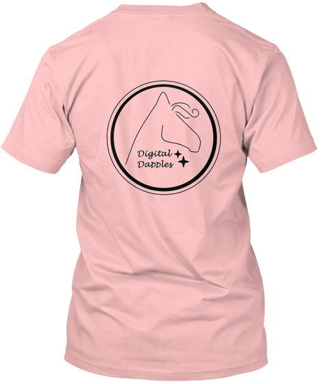 Digital Dapples Pale Pink T-Shirt Back