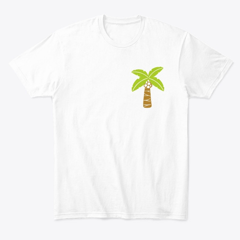 Coconut Tree White T-Shirt Front